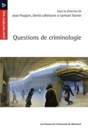 Questions de criminologie - Couverture - Format classique