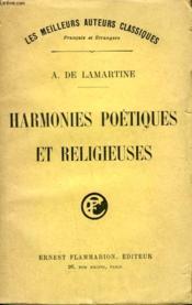 Harmonies Poetiques Et Religieuses. - Couverture - Format classique