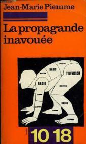 La Propagande Inavouee - Couverture - Format classique