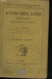 Auteurs Grecs, Latins, Francais, Etudes Critiques Et Analyses. Auteurs Grecs. - Couverture - Format classique