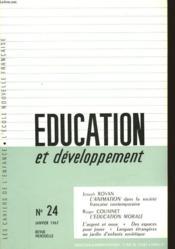 Education Et Developpement - N°24 - Couverture - Format classique