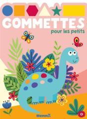 Gommettes pour les petits ; dinosaure bleu - Couverture - Format classique