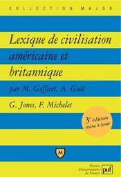 Lexique de civilisation americaine et britannique - Intérieur - Format classique