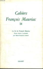 Cahiers François Mauriac t.14 - Couverture - Format classique