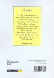 Djamila - 4ème de couverture - Format classique