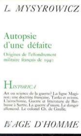 Autopsie D'Une Defaite - Couverture - Format classique