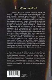 A balles reelles - 4ème de couverture - Format classique