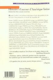 Histoires d'amour d'Amérique latine - 4ème de couverture - Format classique