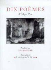 Dix Poemes - Couverture - Format classique