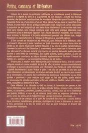 Potins cancans et litterature - 4ème de couverture - Format classique