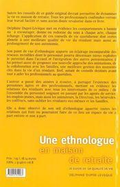 Une Ethnologue En Maison De Retraite ; Le Guide De La Qualite De Vie - 4ème de couverture - Format classique