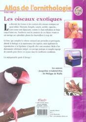 Atlas oiseaux exotiques - 4ème de couverture - Format classique