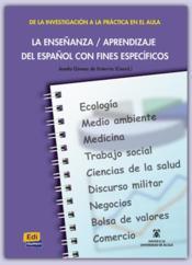 La Ensenanza Aprendizaje Del Espanol - Couverture - Format classique