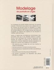 Modelage de portraits en argile ; anatomie et expressions du visage - 4ème de couverture - Format classique