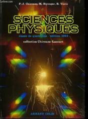 Sciences Physiques - Classe De Quatrieme - Couverture - Format classique