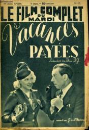 Le Film Complet Du Mardi N° 2210 - 18e Annee - Vacances Payees - Couverture - Format classique