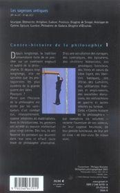 Contre-histoire de la philosophie t.1 ; les sagesses antiques - 4ème de couverture - Format classique