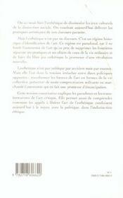 Malaise Dans L Esthetique - 4ème de couverture - Format classique