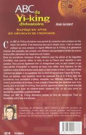ABC du yi-king divinatoire - 4ème de couverture - Format classique