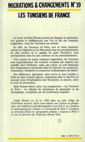 Tunisiens De France Une Forte Concentration ... - 4ème de couverture - Format classique