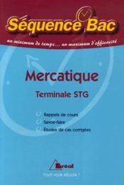 Mercatique ; terminale STG - Couverture - Format classique
