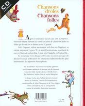 Chansons Droles Chansons Folles - 4ème de couverture - Format classique