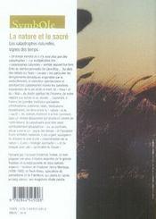 La Nature Et Le Sacre ; Les Catastrophes Naturelles Signes Des Temps - 4ème de couverture - Format classique