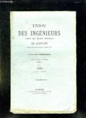 Union Des Ingenieurs Sortis Des Ecoles Speciales De Louvain. Tome V 1909. Deuxieme Fascicule. - Couverture - Format classique
