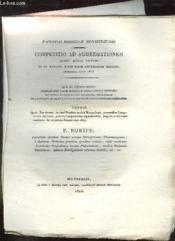 Competitio Ad Aggregationem Jussu Regis Optimi Thesis Bories P. Texte En Latin. - Couverture - Format classique