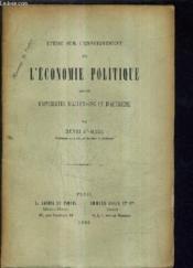 Etude Sur L'Enseignement De L'Economie Politique Dans Les Universites D'Allemagne Et D'Autriche. - Couverture - Format classique