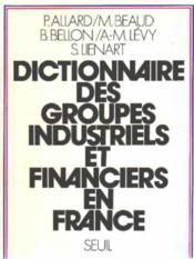Dictionnaire Des Groupes Industriels Et Financiers En France - Couverture - Format classique