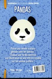 Agenda scolaire ; panda (édition 2018/2019) - 4ème de couverture - Format classique