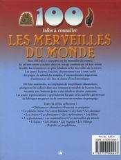 100 Infos A Connaitre ; Les Merveilles Dsu Monde - 4ème de couverture - Format classique