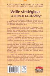 Veille Strategique: La Methode L.E.Scanning - 4ème de couverture - Format classique