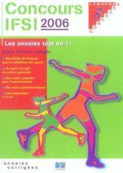 Concours ifsi 2006 sujets officiels et corriges - Intérieur - Format classique