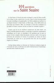 101 questions sur le saint suaire - 4ème de couverture - Format classique