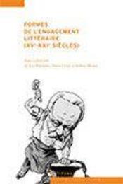 Formes et modèles de l'engagement littéraire (XV-XXI siècles) - Intérieur - Format classique