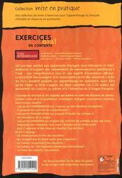 Mise en pratique oral - intermediaire - livre de l'eleve - 4ème de couverture - Format classique