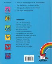 Deguisements des tout-petits - 4ème de couverture - Format classique