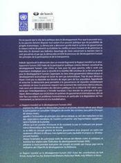 Rapport mondial sur le dev. humain 2002 - 4ème de couverture - Format classique