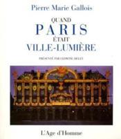 Paris Illumine - Couverture - Format classique