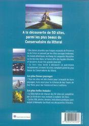 Balades entre terre et mer sur les sites du conservatoire du littoral - 4ème de couverture - Format classique