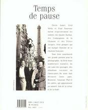 Temps De Pause - 4ème de couverture - Format classique