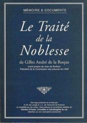 Le Traite De La Noblesse - Couverture - Format classique