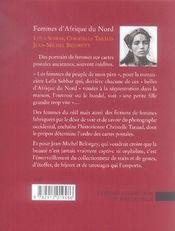 Femmes d'afrique du nord ; cartes postales (1885-1930) - 4ème de couverture - Format classique