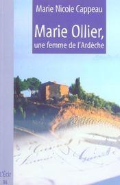 Marie Ollier Une Femme De L Ardeche - Intérieur - Format classique