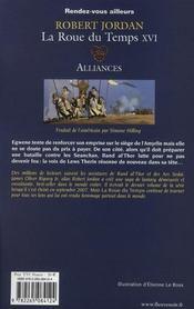 La roue du temps T.16 ; alliances - 4ème de couverture - Format classique