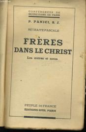 Freres Dans Le Christ - Les Autres Et Nous - Couverture - Format classique