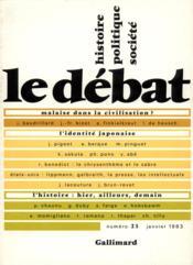 Revue Le Débat N.23 - Couverture - Format classique