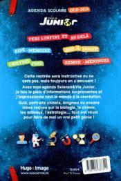Agenda scolaire ; science & vie junior - 4ème de couverture - Format classique